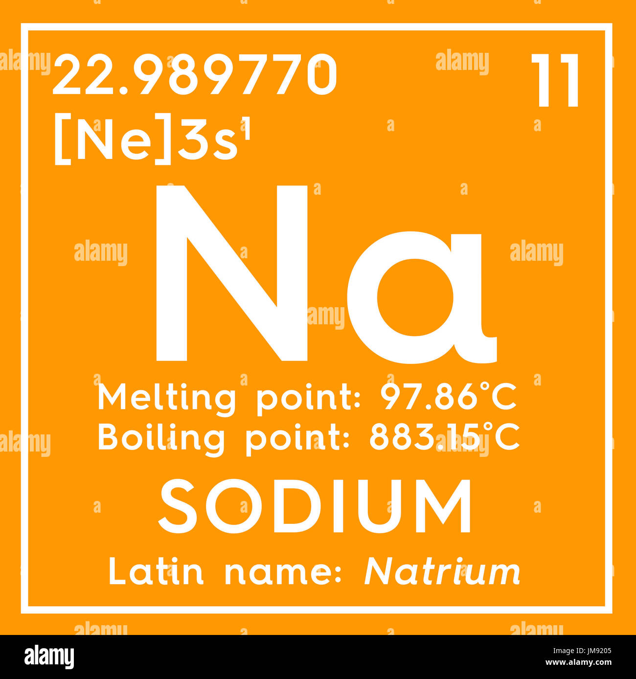 Sodium atomic structure stock photos sodium atomic structure sodium natrium alkali metals chemical element of mendeleevs periodic table sodium in gamestrikefo Choice Image