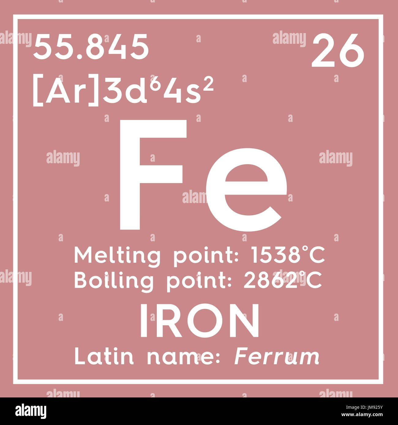 Iron ferrum transition metals chemical element of mendeleevs chemical element of mendeleevs periodic table iron in square cube creative concept gamestrikefo Gallery