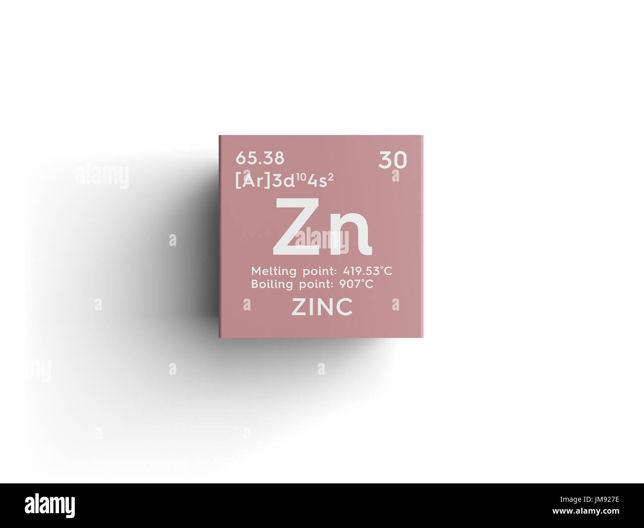 Zinc chemical element stock photos zinc chemical element stock zinc transition metals chemical element of mendeleevs periodic table zinc in square cube gamestrikefo Gallery