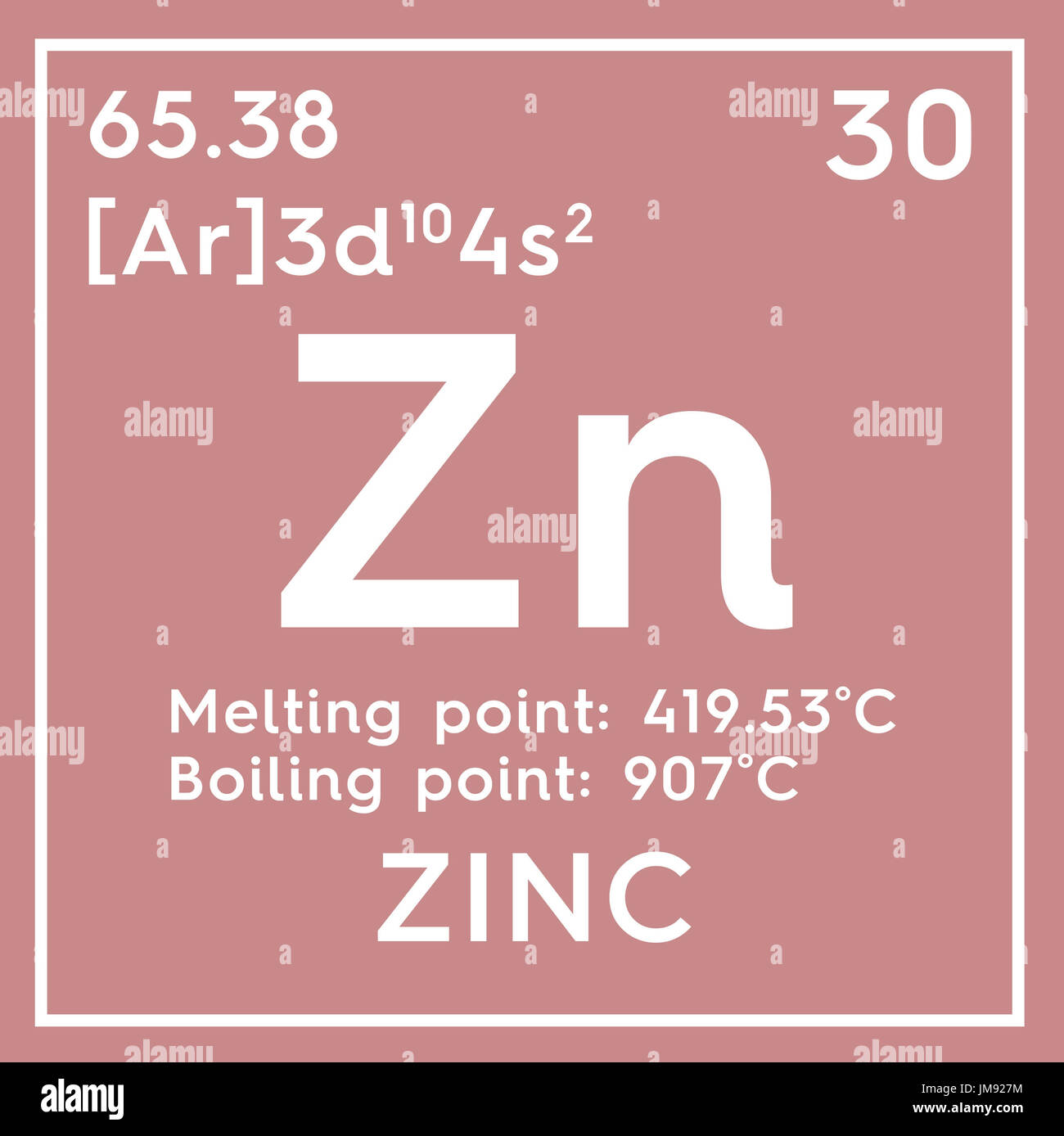 Zinc transition metals chemical element of mendeleevs periodic chemical element of mendeleevs periodic table zinc in square cube creative concept gamestrikefo Images