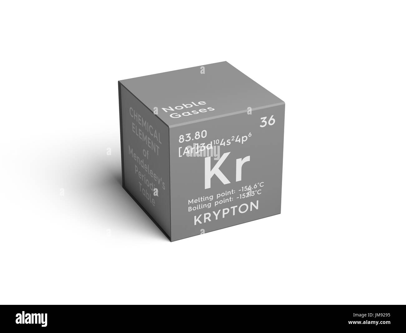 Krypton noble gases chemical element of mendeleevs periodic krypton noble gases chemical element of mendeleevs periodic table krypton in square cube creative concept buycottarizona