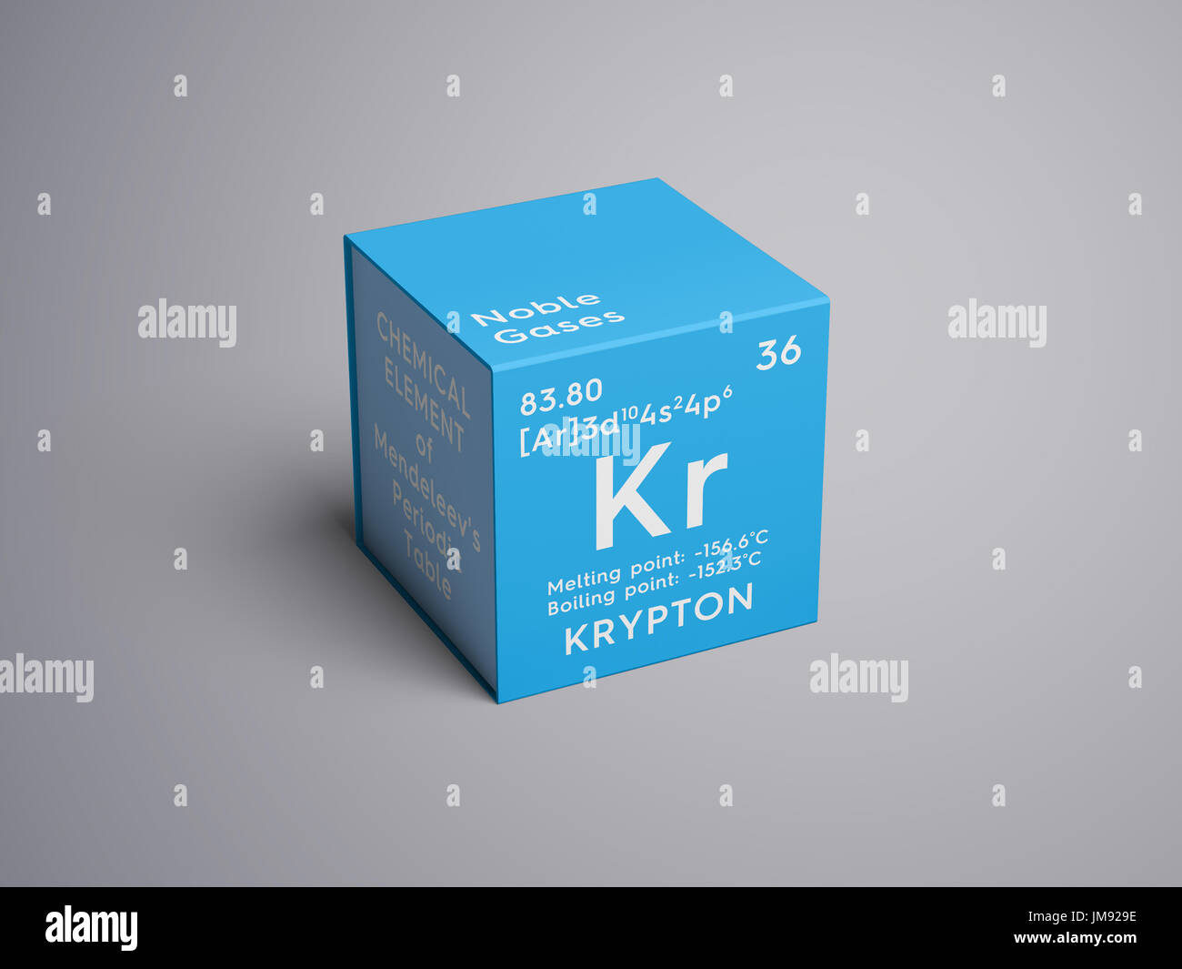 Krypton noble gases chemical element of mendeleevs periodic noble gases chemical element of mendeleevs periodic table krypton in square cube creative concept gamestrikefo Gallery