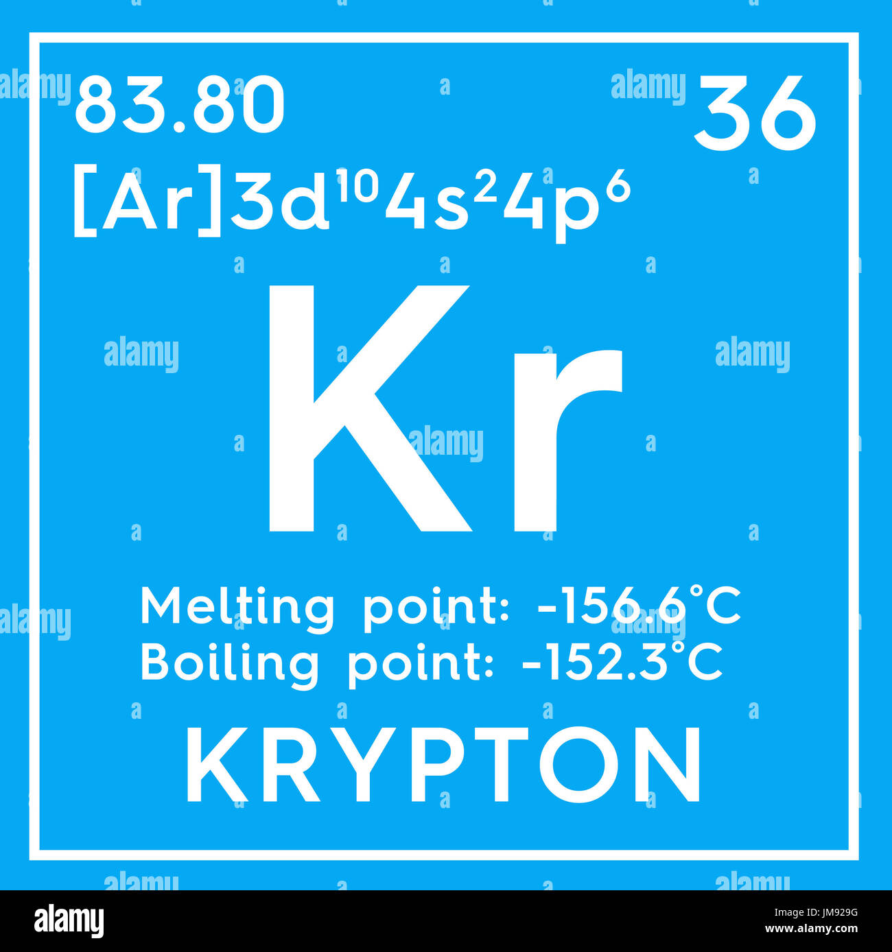 Symbol chemical element krypton stock photos symbol chemical krypton noble gases chemical element of mendeleevs periodic table krypton in square cube buycottarizona