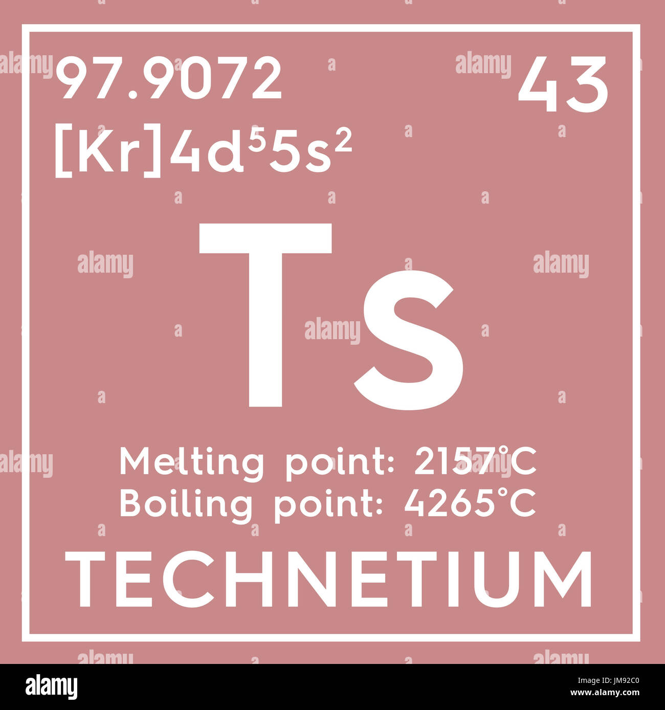 Technetium transition metals chemical element of mendeleevs stock photo technetium transition metals chemical element of mendeleevs periodic table technetium in square cube creative concept gamestrikefo Images