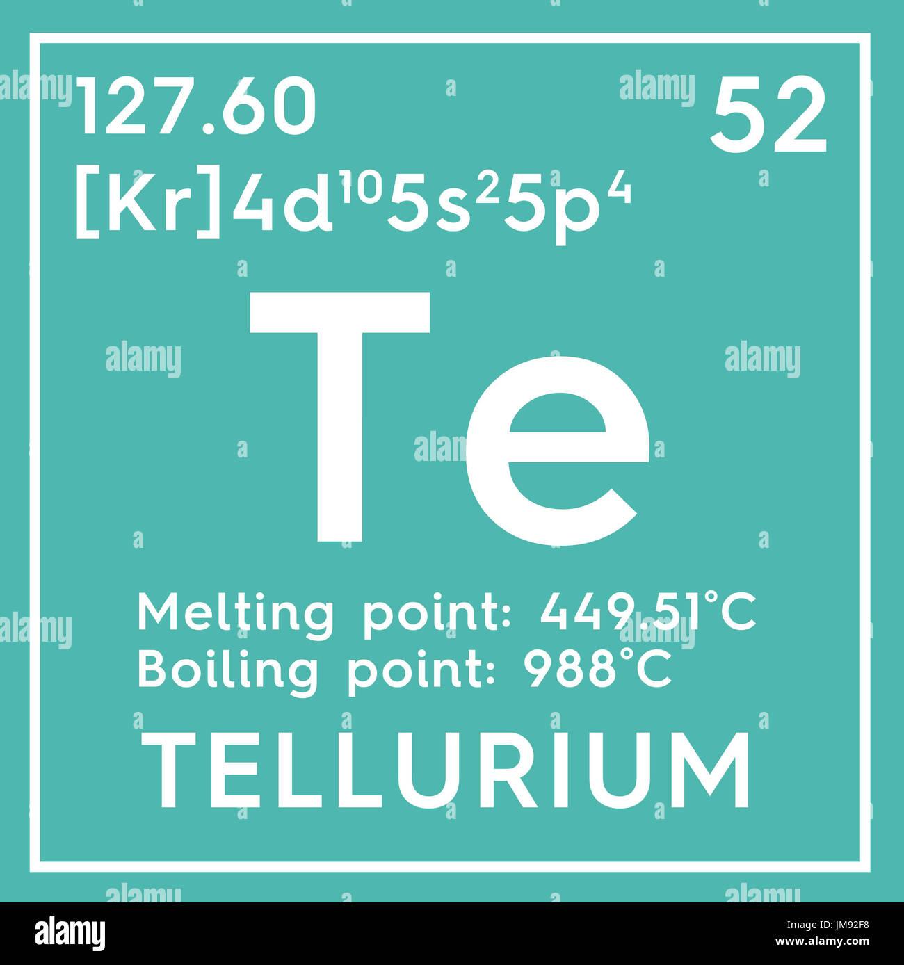 Tellurium metalloids chemical element of mendeleevs periodic stock photo tellurium metalloids chemical element of mendeleevs periodic table tellurium in square cube creative concept gamestrikefo Images