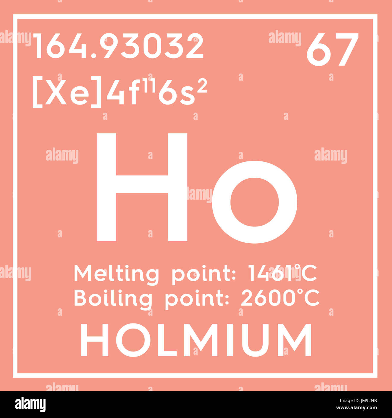Holmium lanthanoids chemical element of mendeleevs periodic chemical element of mendeleevs periodic table holmium in square cube creative concept gamestrikefo Images