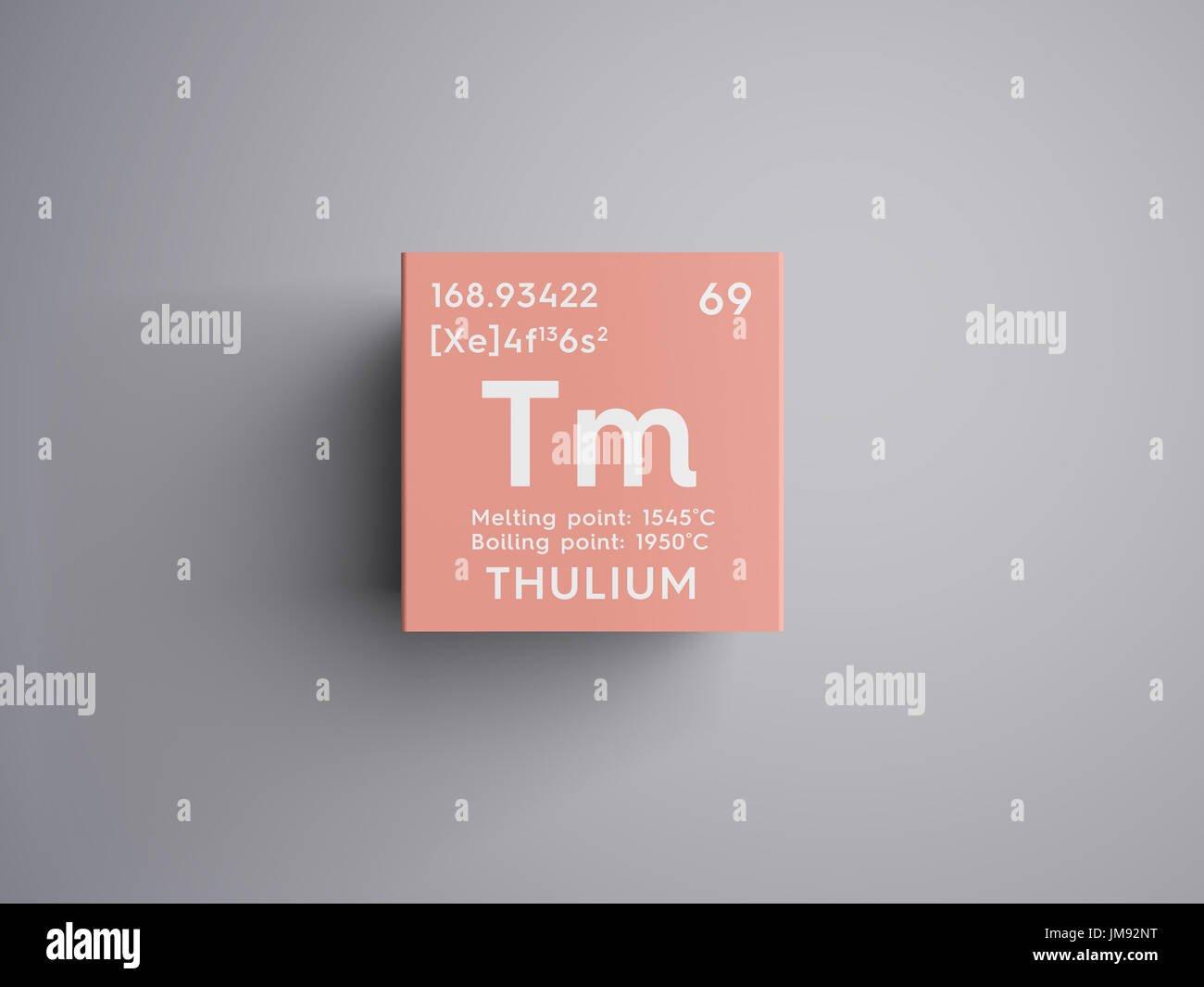 Symbol chemical element thulium stock photos symbol chemical thulium lanthanoids chemical element of mendeleevs periodic table thulium in square cube creative gamestrikefo Gallery