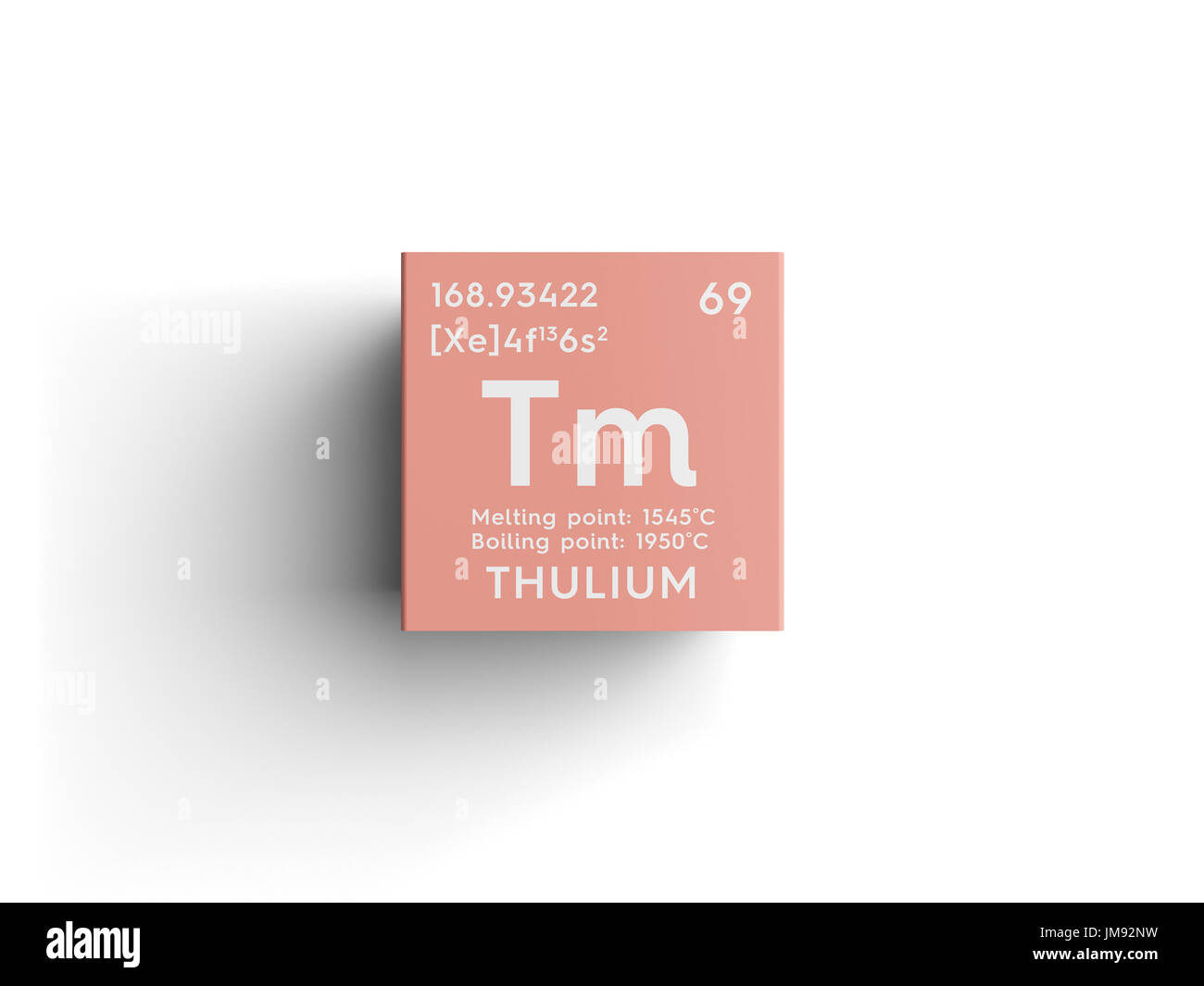 Mendeleevs periodic table stock photos mendeleevs periodic table thulium lanthanoids chemical element of mendeleevs periodic table thulium in square cube creative gamestrikefo Gallery