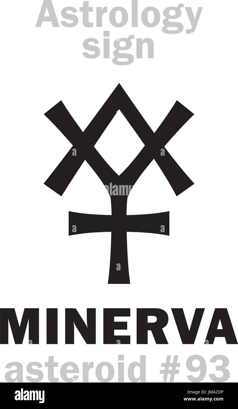 Minerva pallas stock photos minerva pallas stock images alamy astrology alphabet minerva asteroid 93 hieroglyphics character sign single symbol biocorpaavc Images