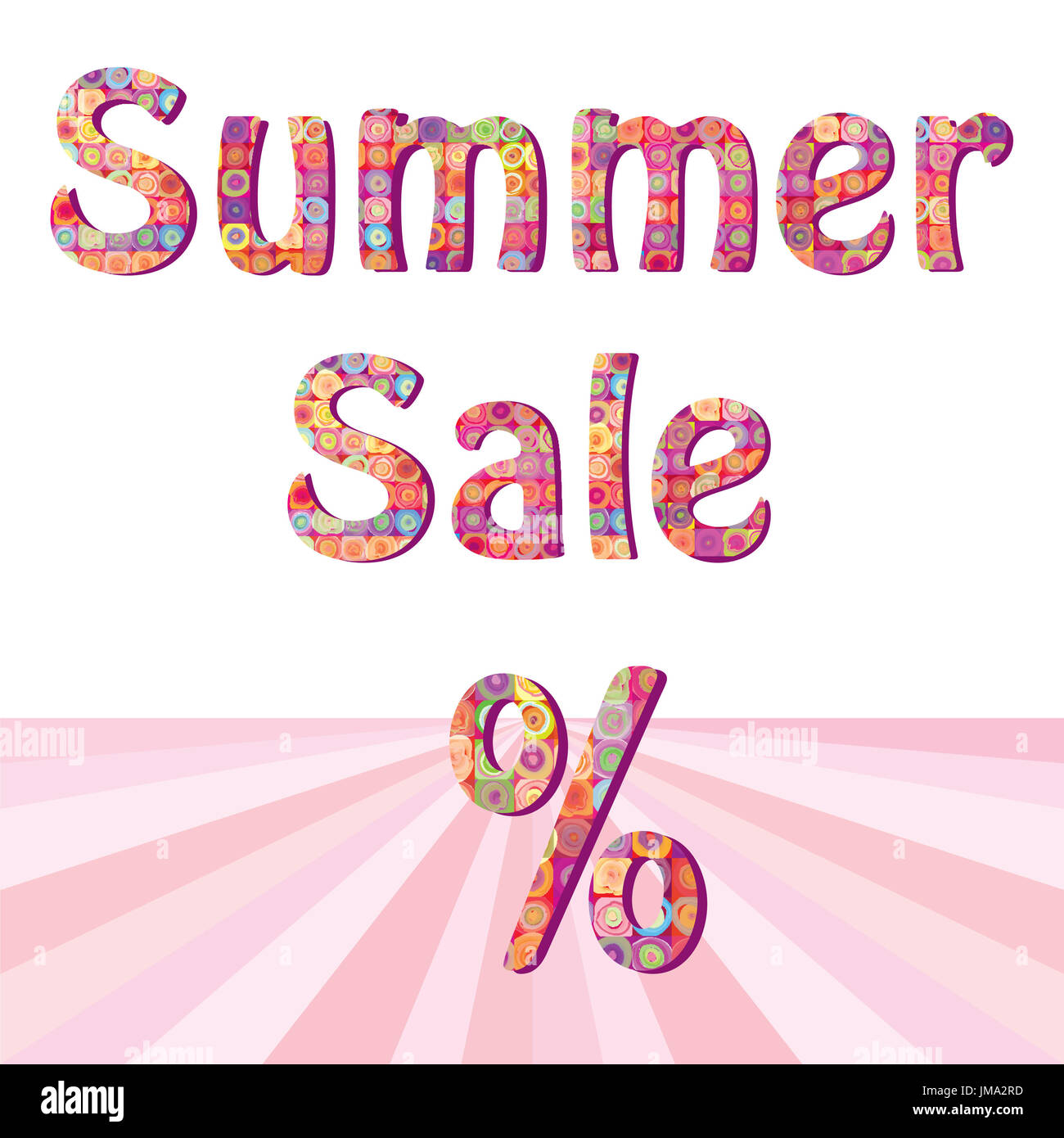 summer sale sign illustration design over white stock photo