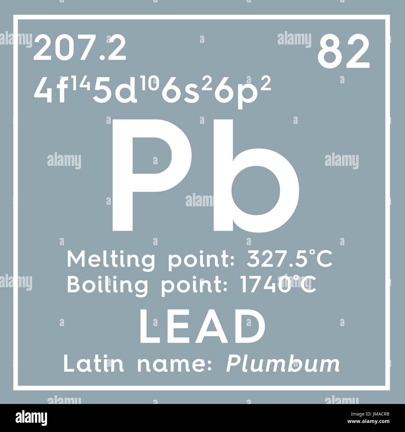 Lead plumbum post transition metals chemical element of stock post transition metals chemical element of mendeleevs periodic table lead in square cube creative concept urtaz Gallery