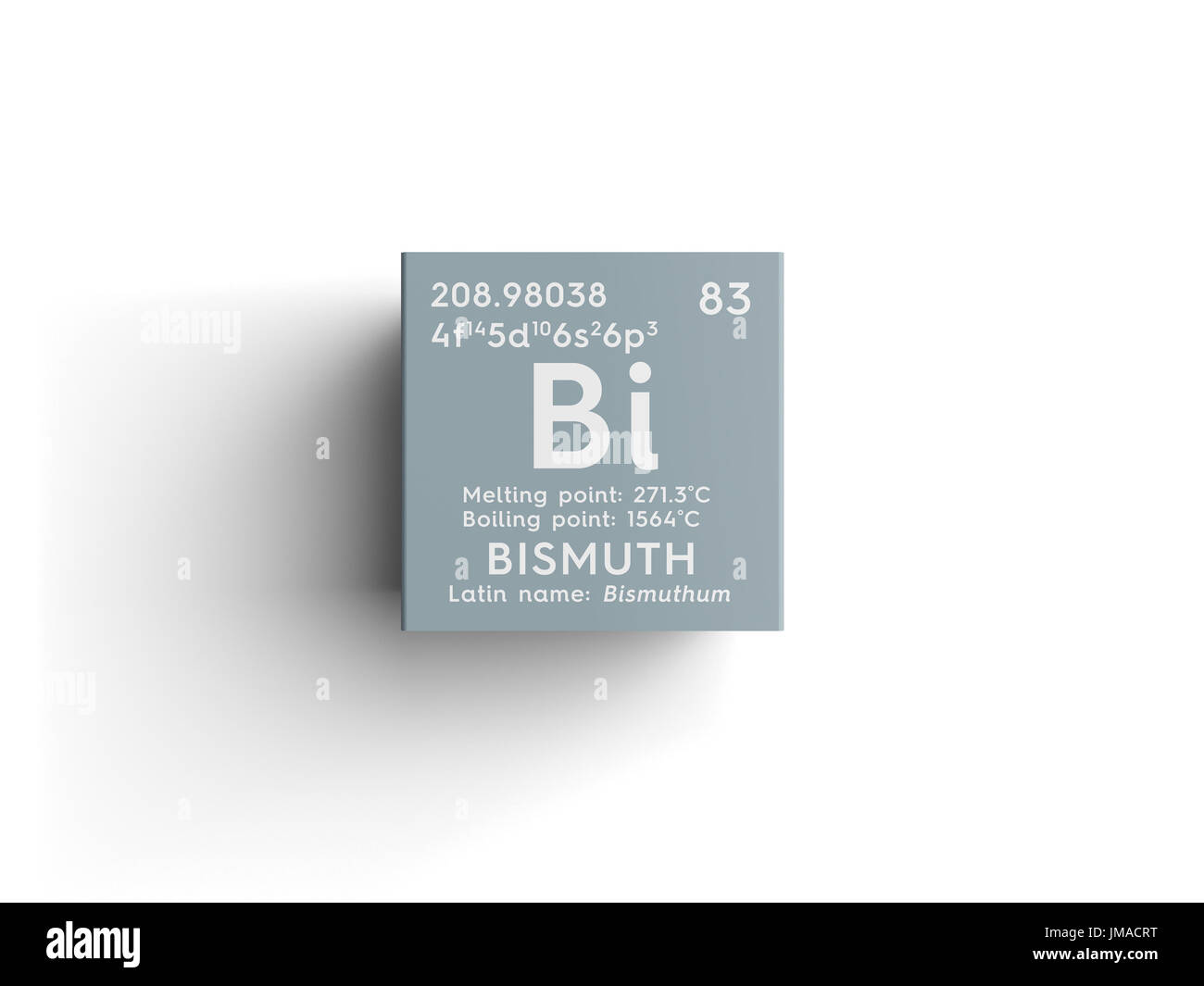 Bismuth bishmuthum post transition metals chemical element of bismuth bishmuthum post transition metals chemical element of mendeleevs periodic table bismuth in square cube creative concept buycottarizona