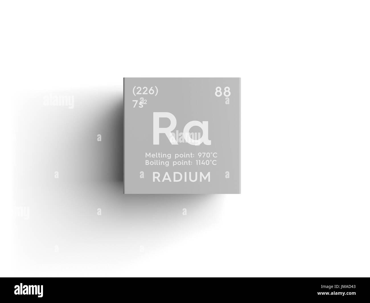 Radium alkaline earth metals chemical element of mendeleevs radium alkaline earth metals chemical element of mendeleevs periodic table radium in square cube creative concept pooptronica