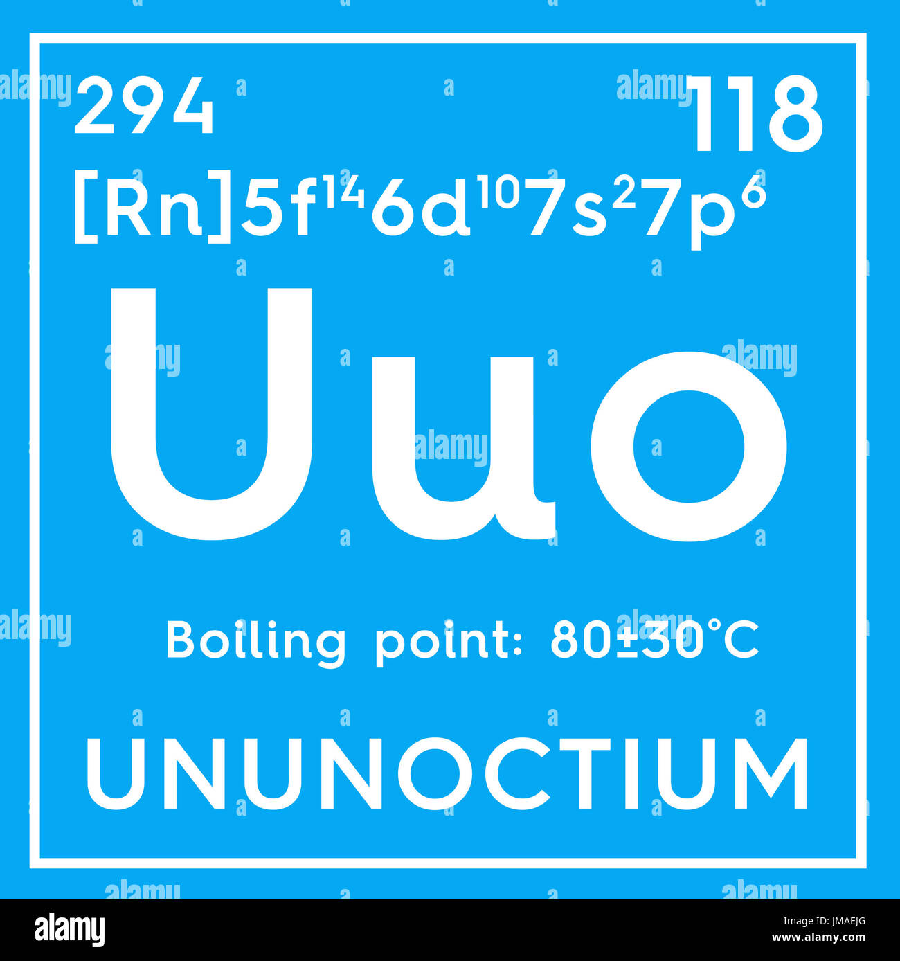 Ununoctium noble gases chemical element of mendeleevs periodic chemical element of mendeleevs periodic table ununoctium in square cube creative concept gamestrikefo Images