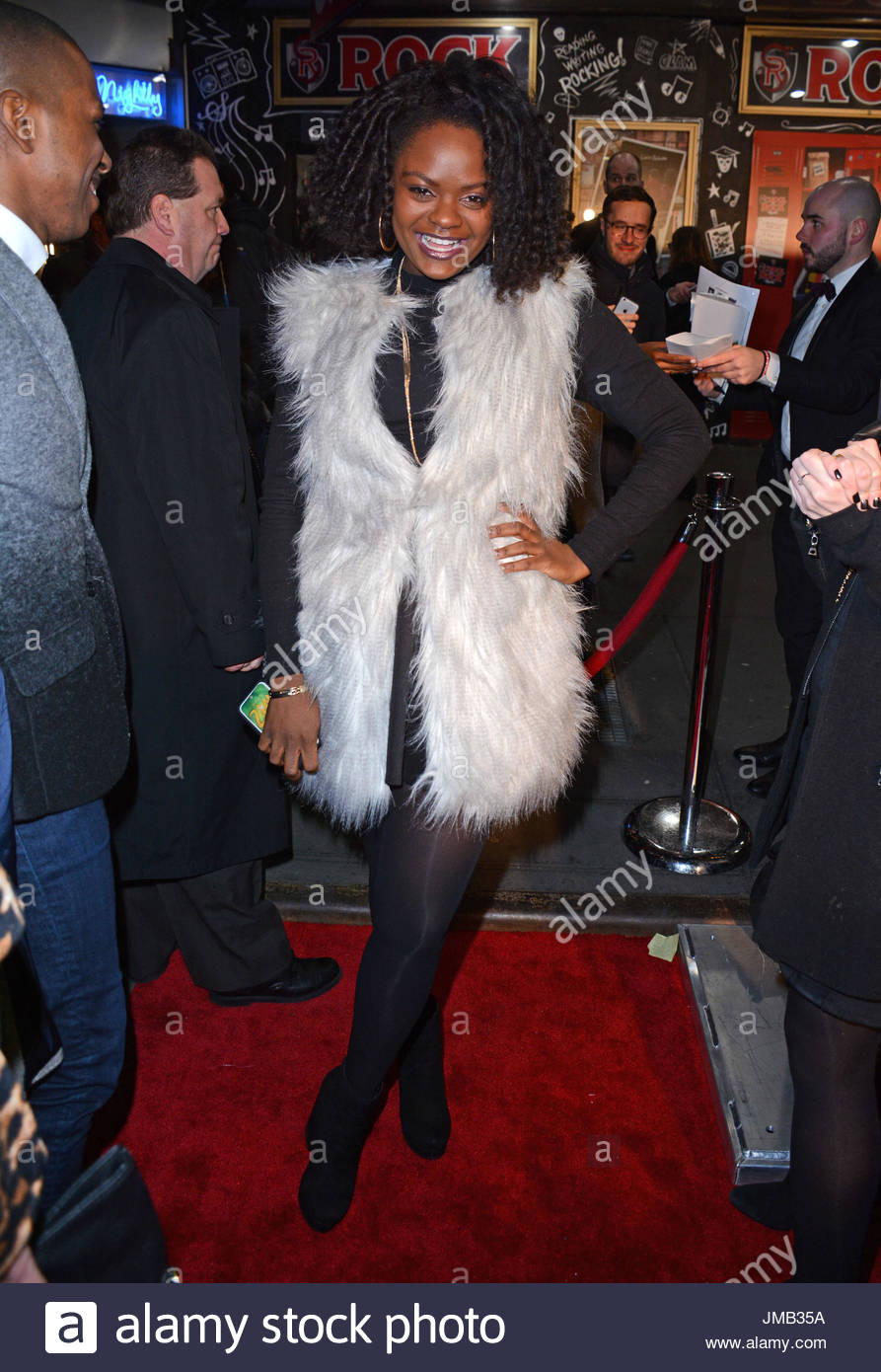 shanice williams of rock opening night on broadway at the