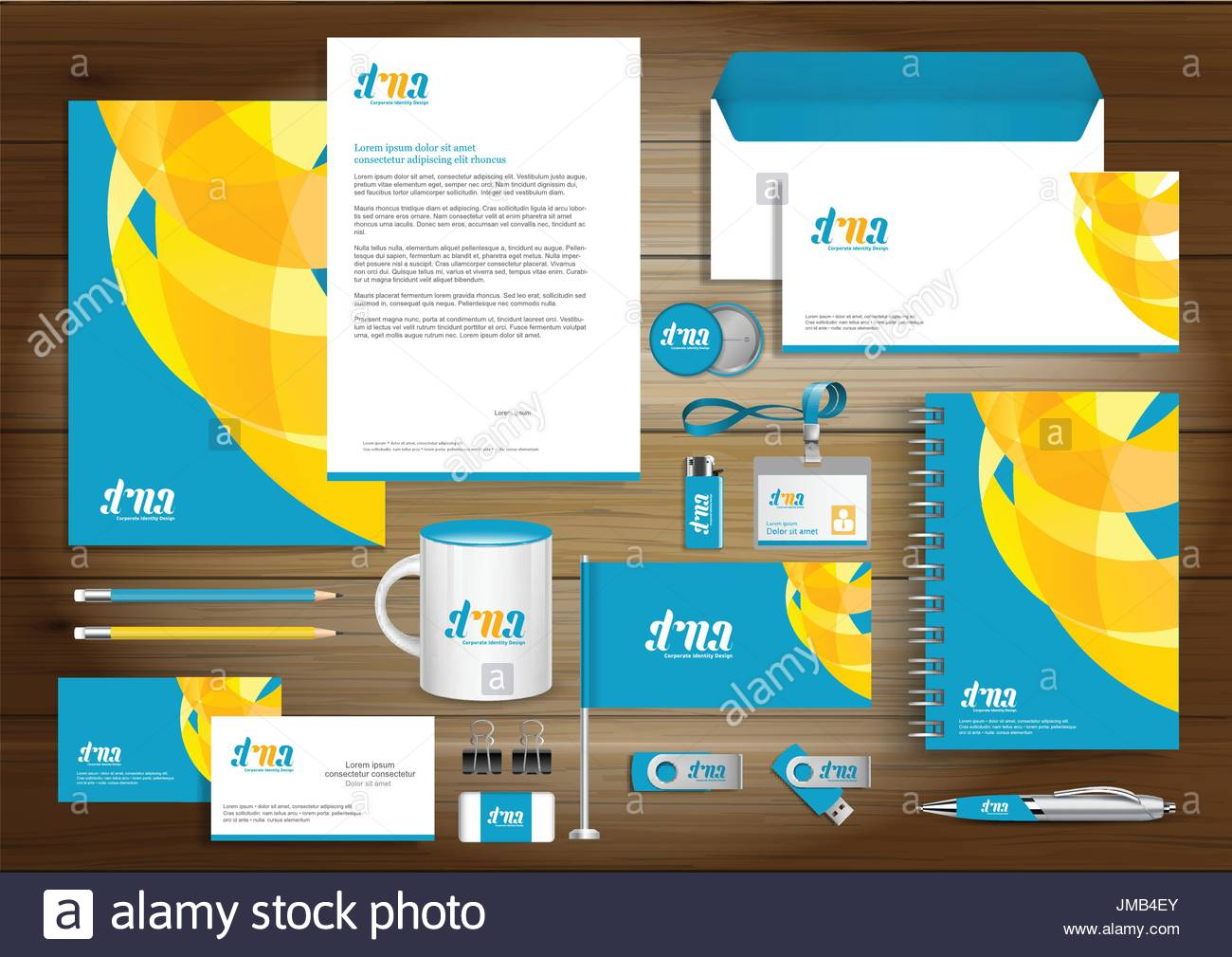 Vector abstract stationery corporate identity template design Stock ...