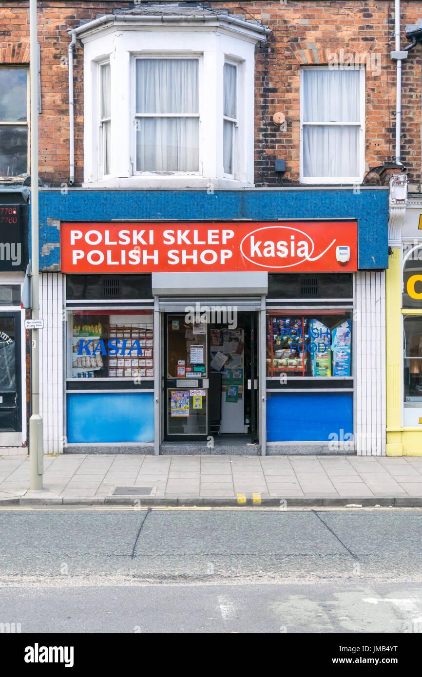 8d02311655f53 Polski Sklep or Polish Shop in Scarborough, North Yorkshire Stock ...