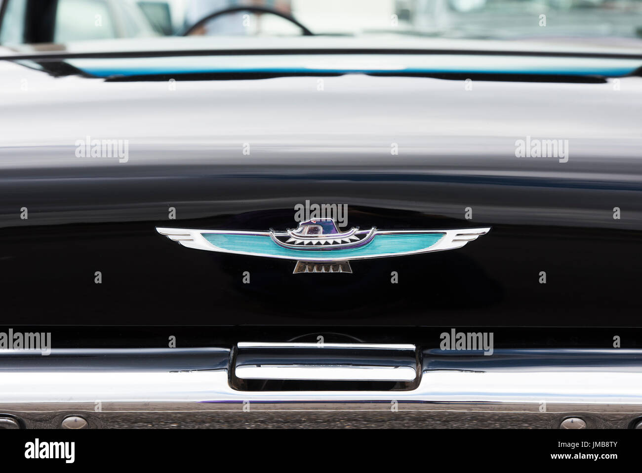 1962 Ford Thunderbird Rear End Winged Badge Abstract Classic Stock