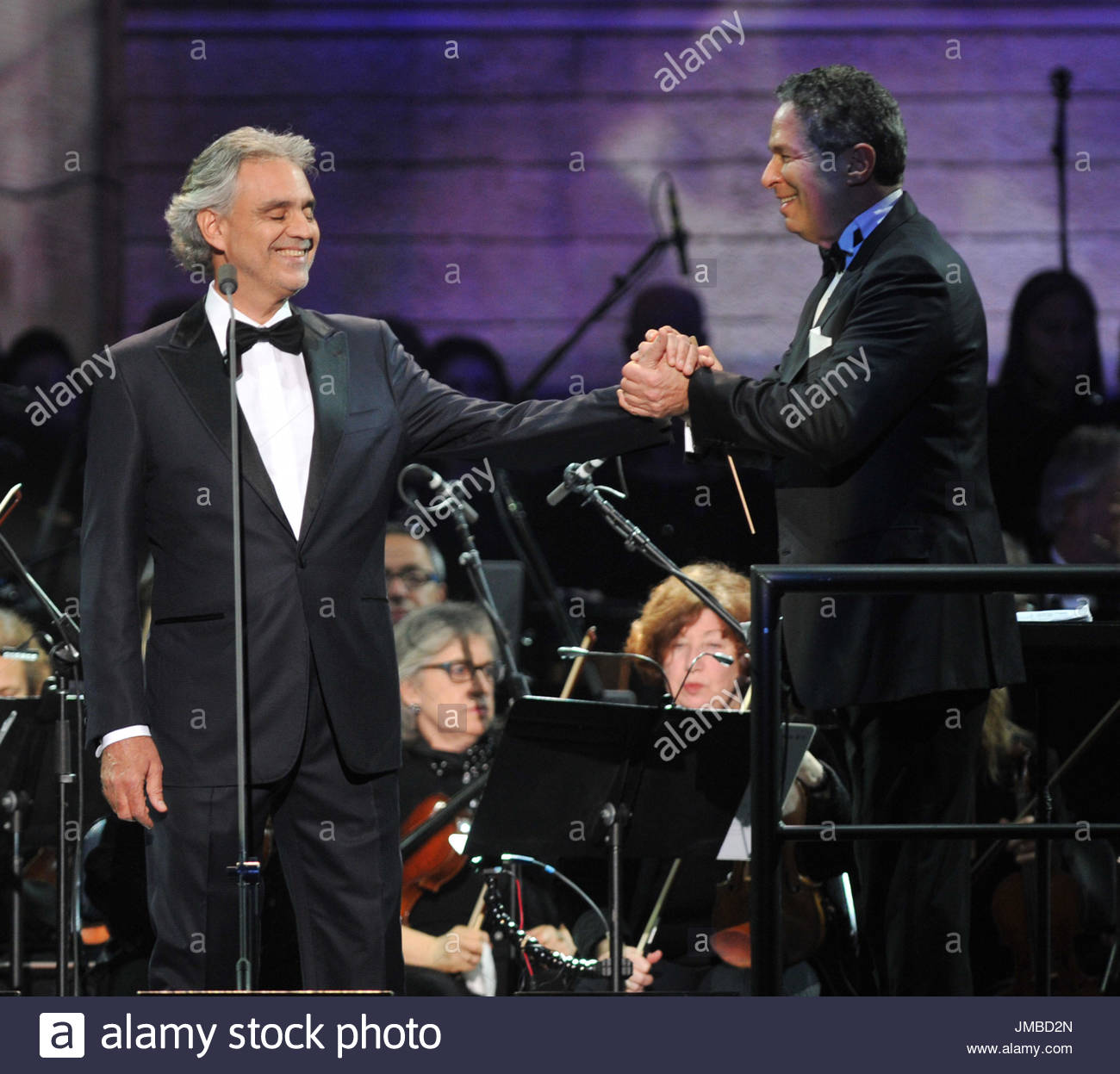 Andrea Bocelli, Eugene Kohn. Andrea Bocelli Performs In Concert At Madison  Square Garden On December 9, 2015 In New York City. Amazing Pictures