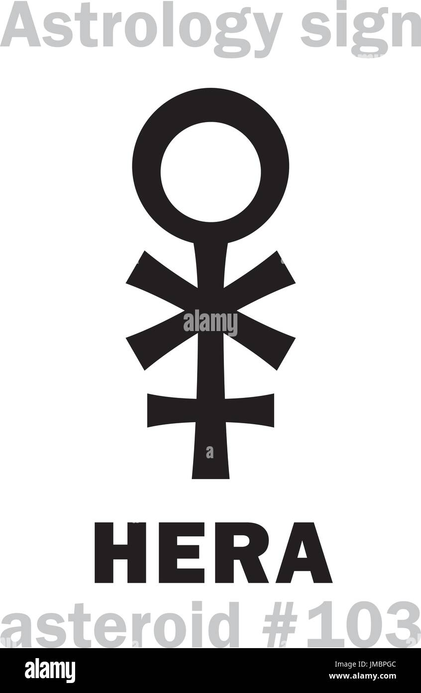 Astrology Alphabet Hera Asteroid 103 Hieroglyphics Character