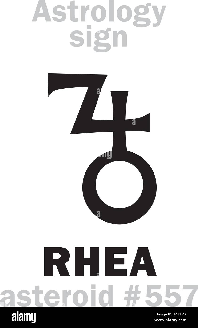 Rhea and cronus stock photos rhea and cronus stock images alamy astrology alphabet rhea asteroid 557 hieroglyphics character sign single symbol buycottarizona Images