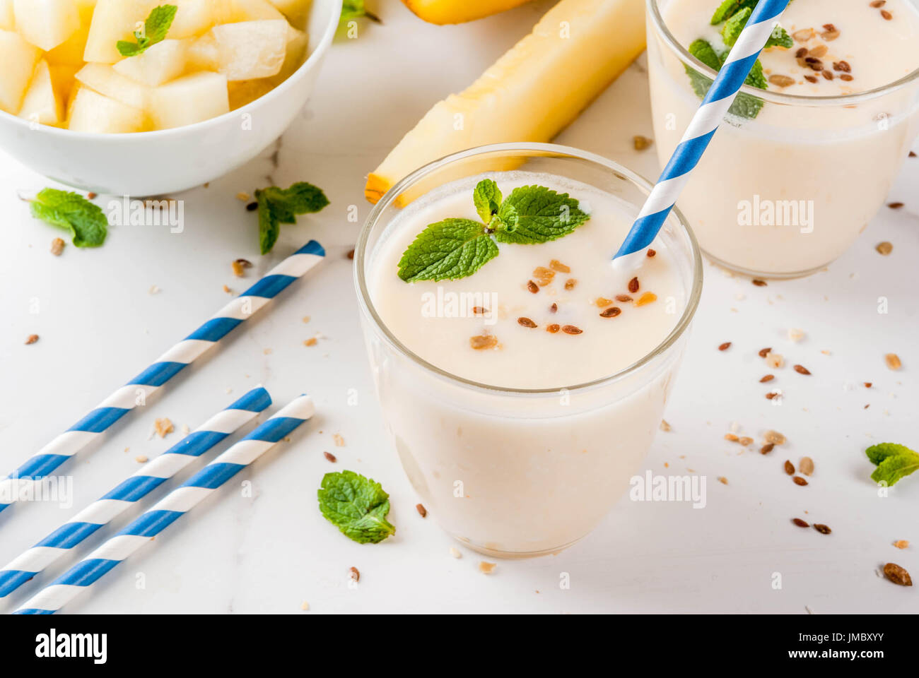 Striped straws stock photos striped straws stock images alamy - Refreshing dishes yogurt try summer ...