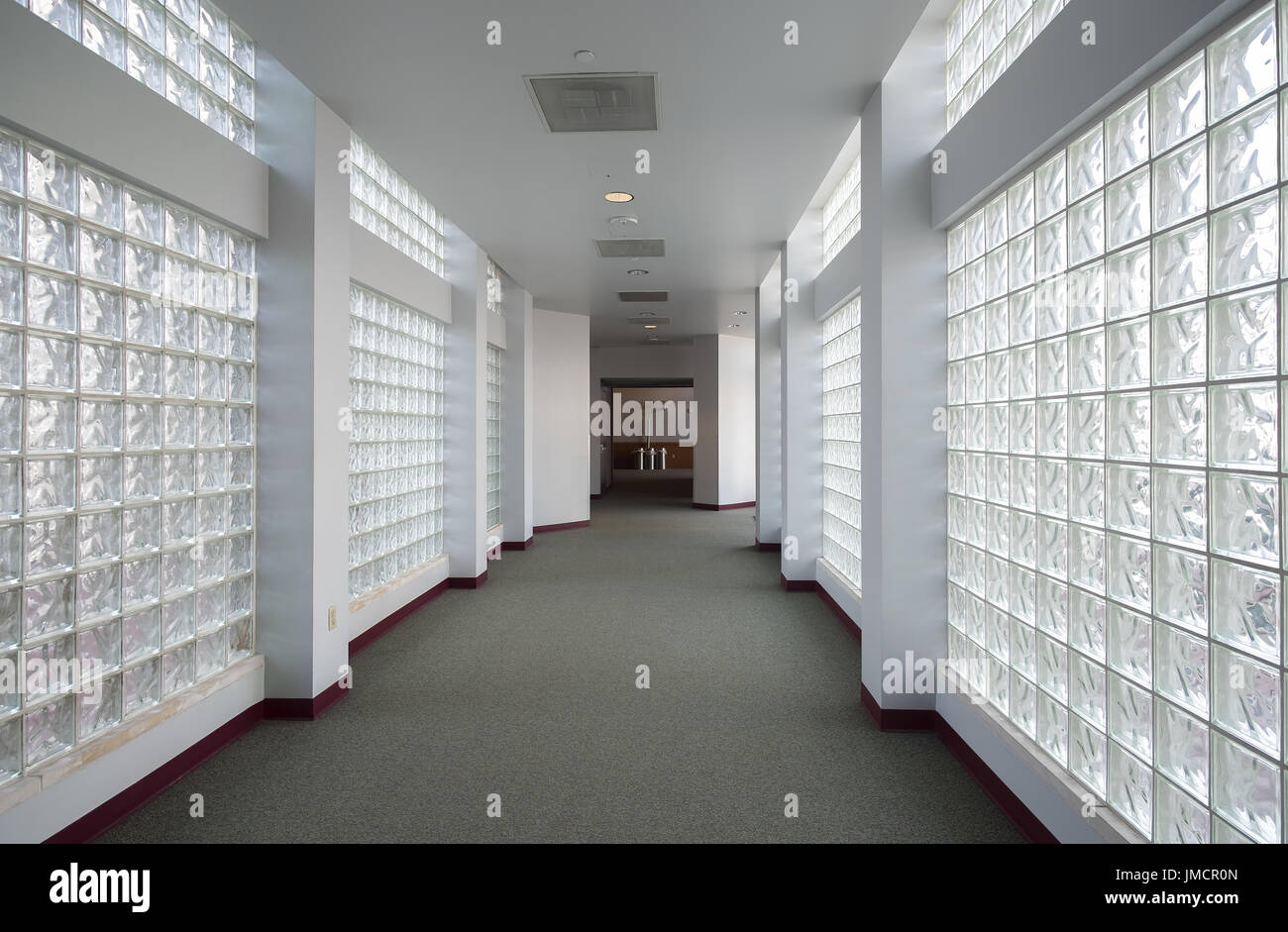 Office natural light Interior Glass Block Walls Fill Hallway With Natural Light Office Building Alamy Glass Block Walls Fill Hallway With Natural Light Office Building