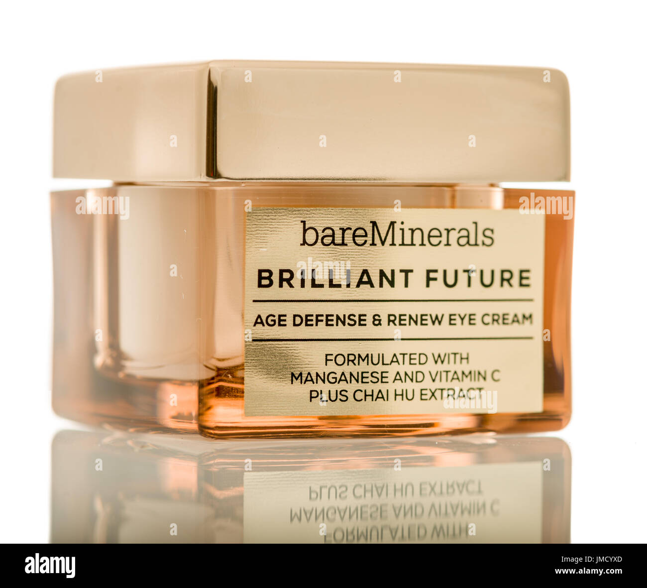 Brilliant stock photos brilliant stock images alamy winneconne wi 26 july 2017 a jar of bare minerals brilliant future cream biocorpaavc Images
