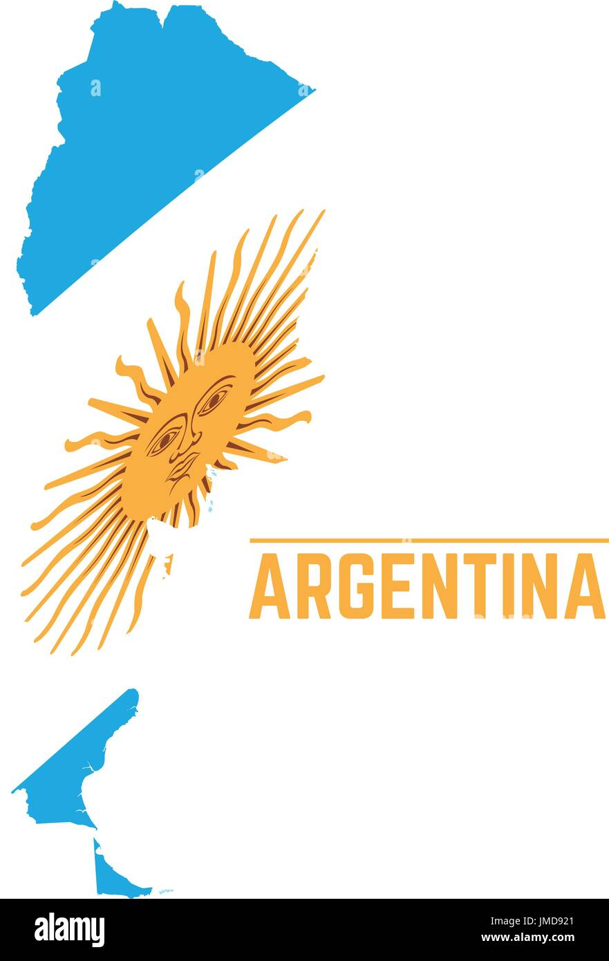Argentina Country Flag Map Shape Stock Photos Argentina Country - Argentina map shape