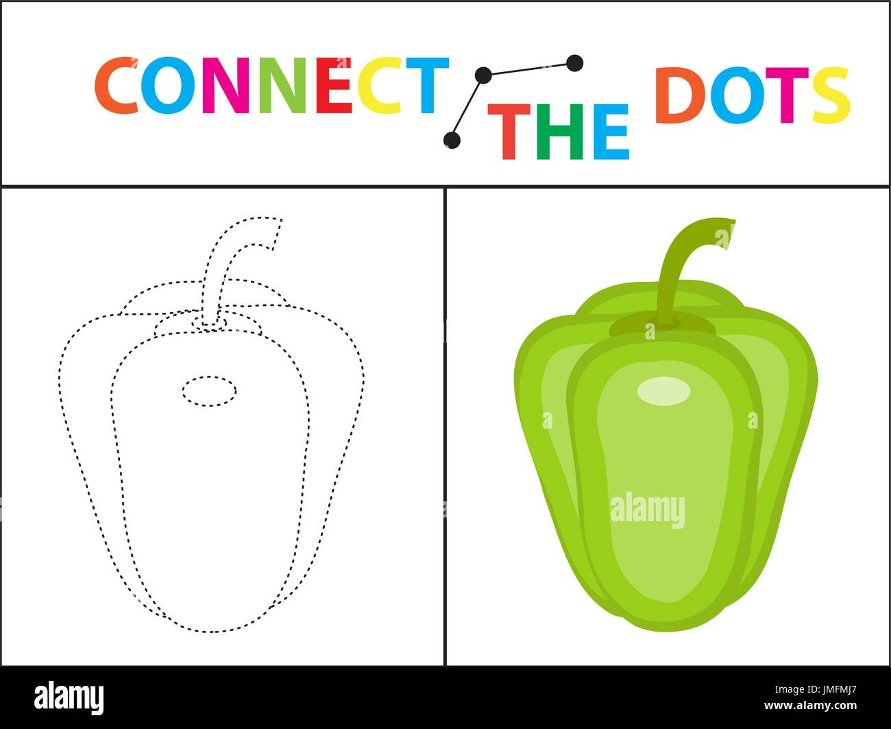 Children s educational game for motor skills. Connect the dots Stock ...