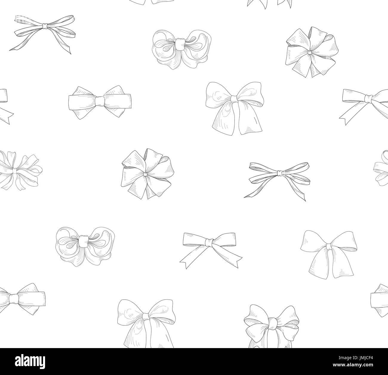 Bride Team Bow Icon Set Holiday Gift Wallpaper Fashion White Background