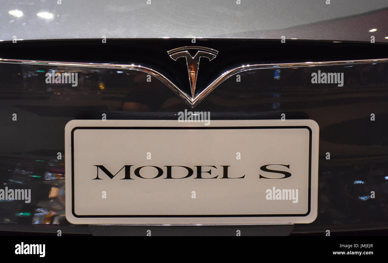 Tesla model s front plate and symbol of a car in a taipei taiwan tesla model s front plate and symbol of a car in a taipei taiwan show room 2017 buycottarizona Gallery