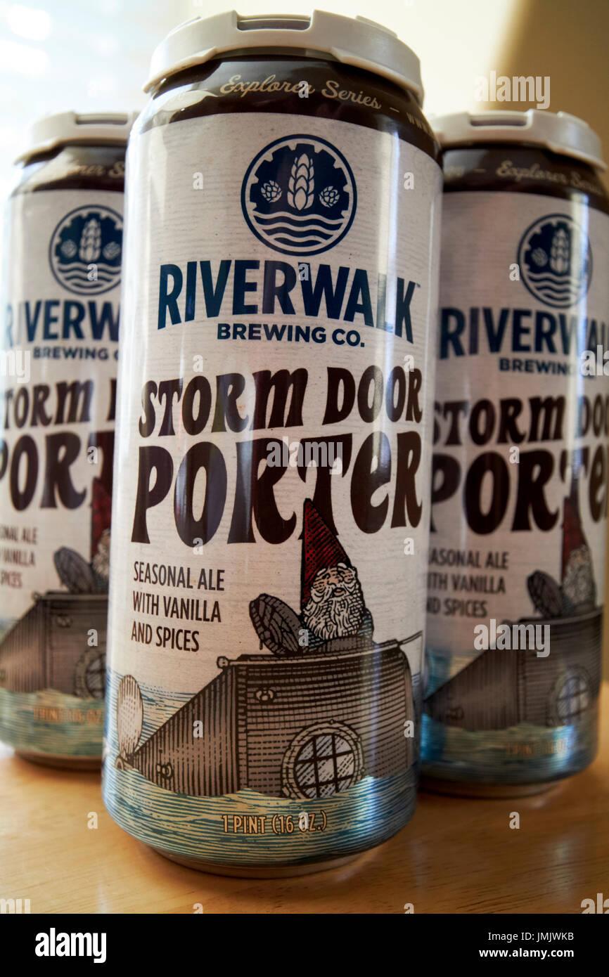 riverwalk brewing company storm door porter craft beer in cans USA & riverwalk brewing company storm door porter craft beer in cans USA ...