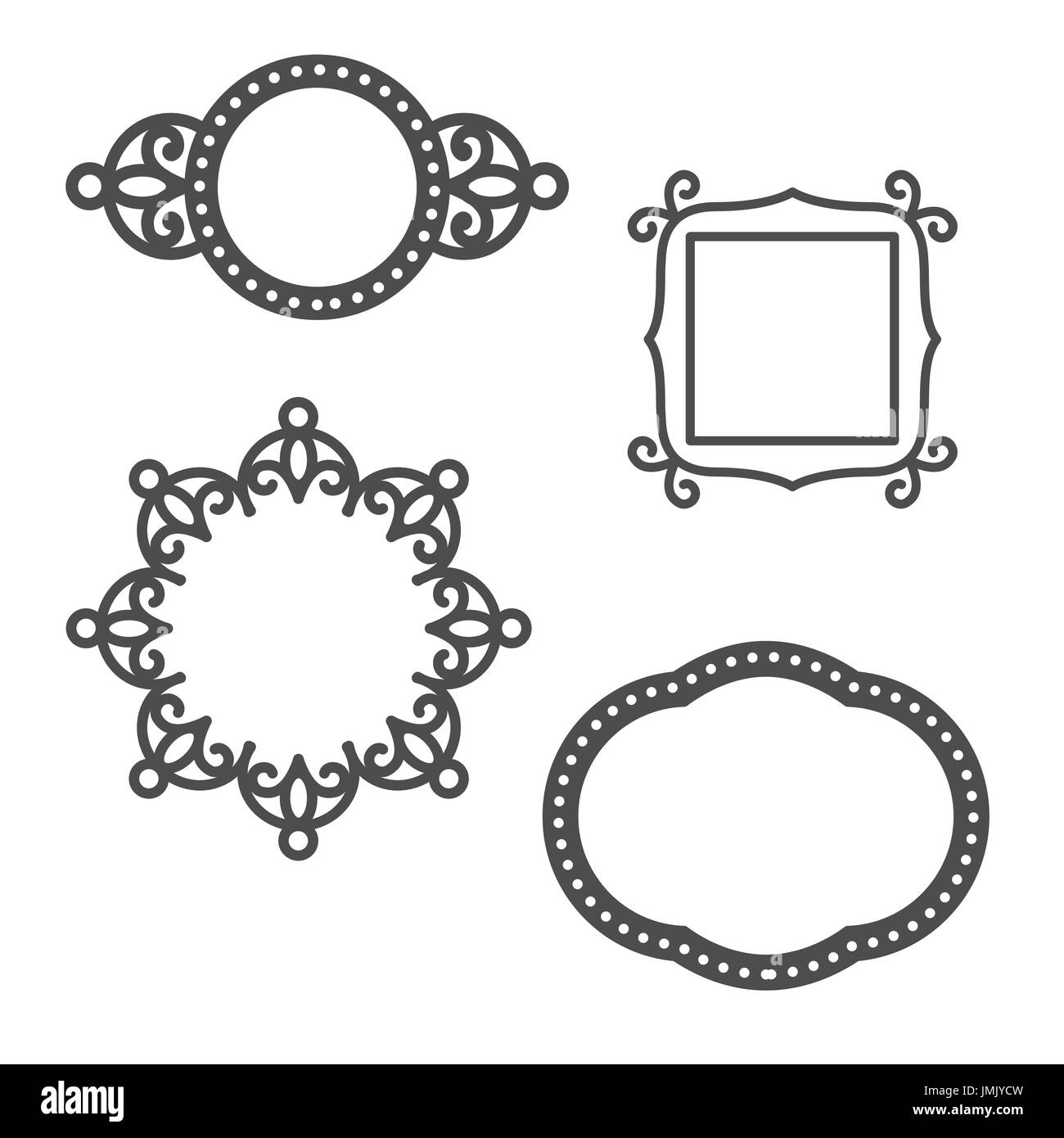 Ogee Frames For Use On Greeting Cards Or Wedding Invitations Stock