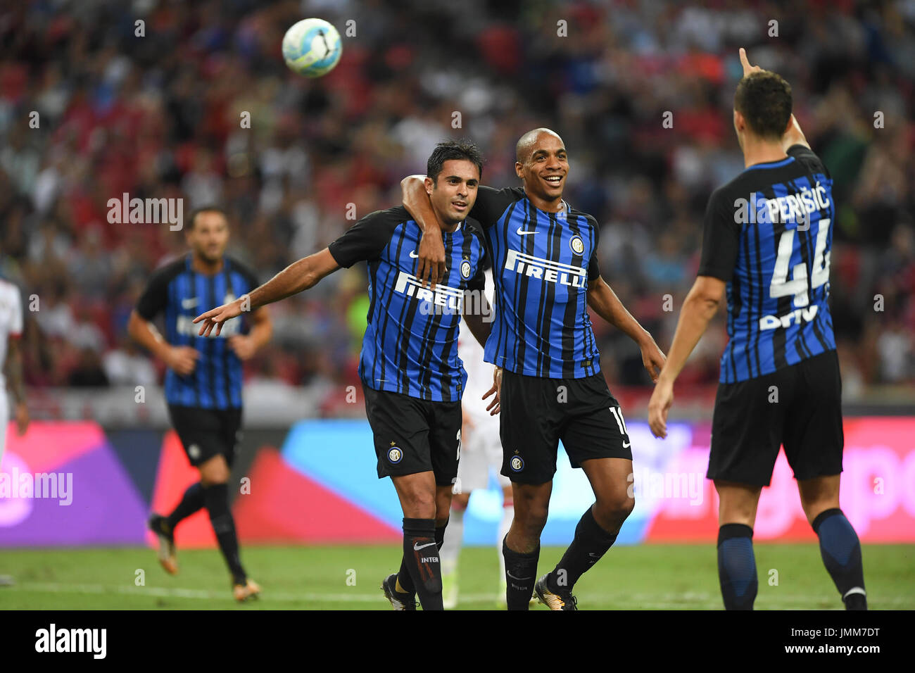 Singapore 27th July 2017 L R Martins Eder & Joao Mario Inter