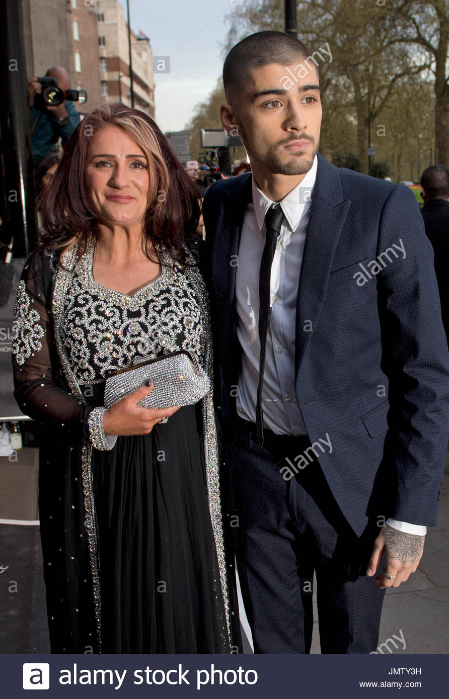 trisha malik and zayn malik the 2015 asian awards at the