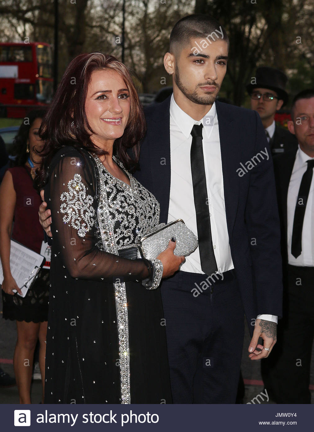 trisha malik zain malik 2015 asian awards stock photo