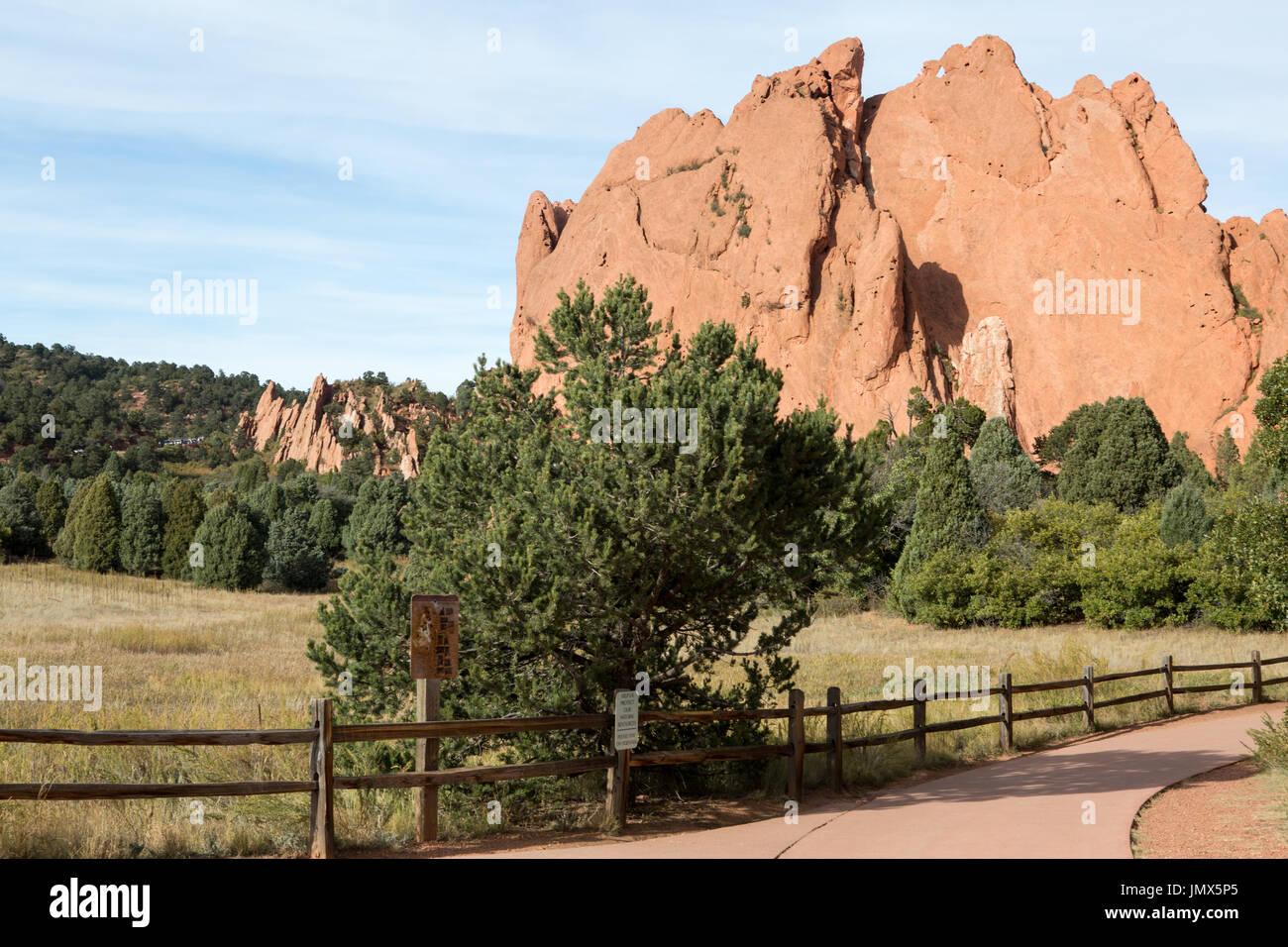 Garden of the gods national park, Colorado Springs Stock Photo ...