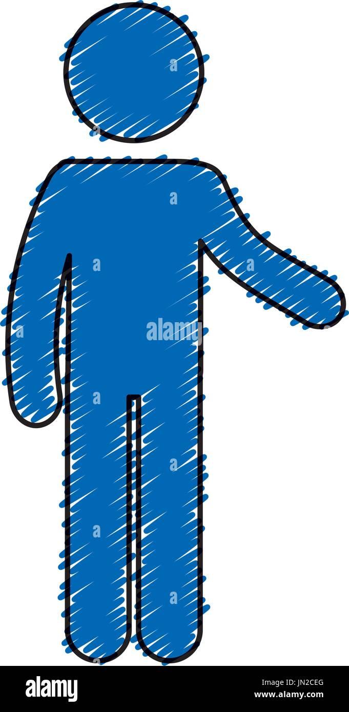 Human Figure Silhouette Icon Vector Illustration Design Stock Vector