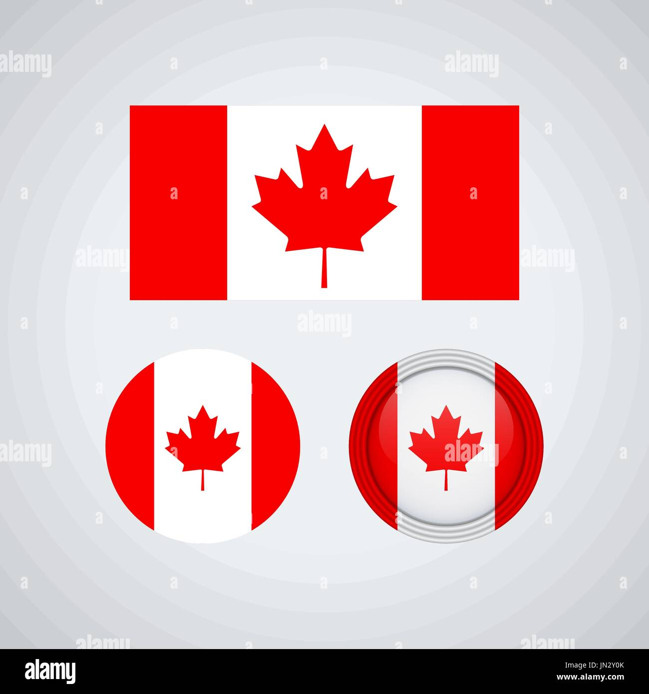 Flag Design Canadian Set Isolated Template For Your Designs Vector Illustration