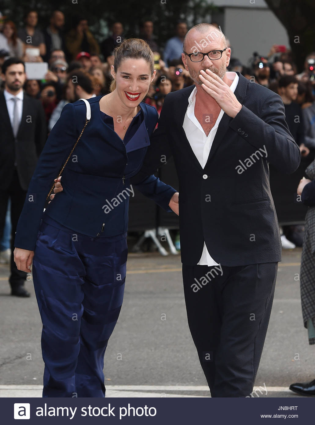 Biagio Antonacci and Paola Cardinale. Giorgio Armani 40th ...