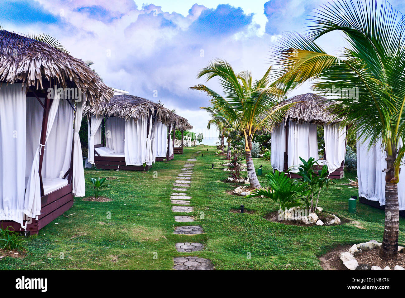 Tropical Beach Huts: Roofs Tropical Stock Photos & Roofs Tropical Stock Images