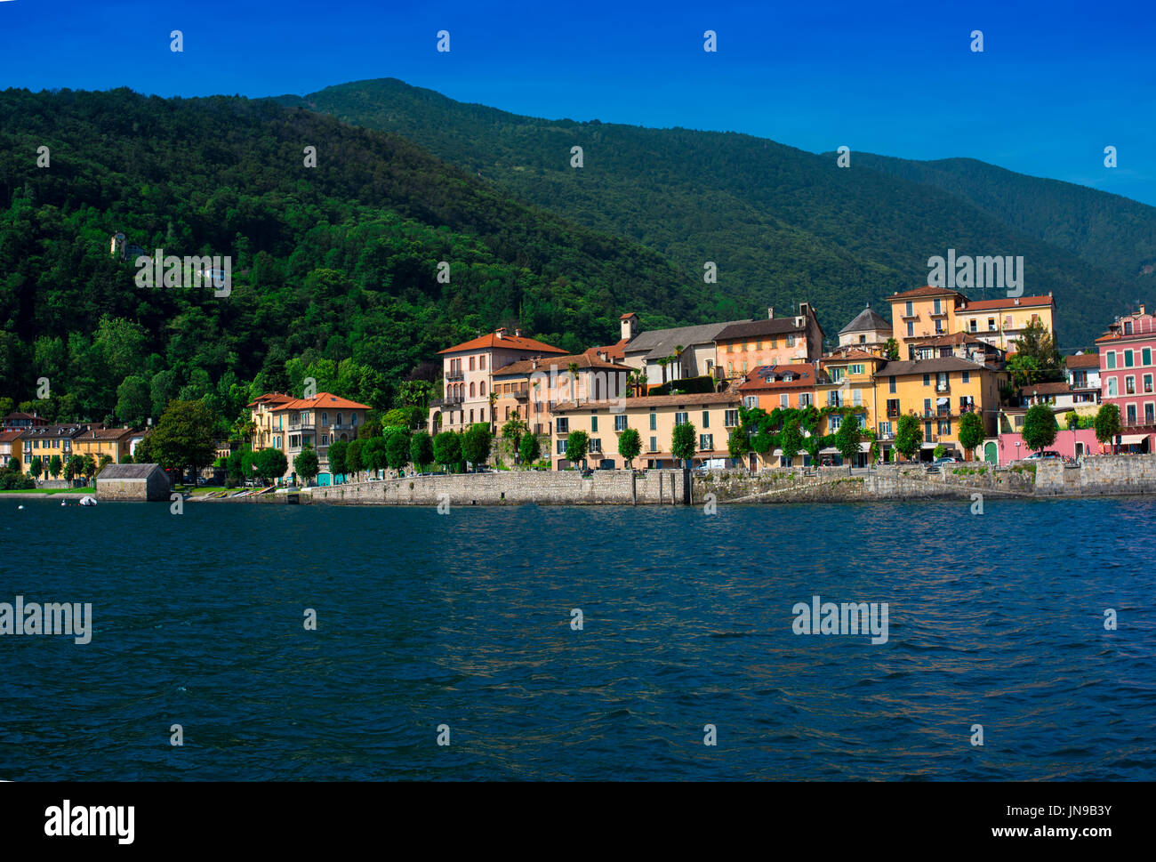 lago maggiore cannobio piemont italy stock photos lago. Black Bedroom Furniture Sets. Home Design Ideas