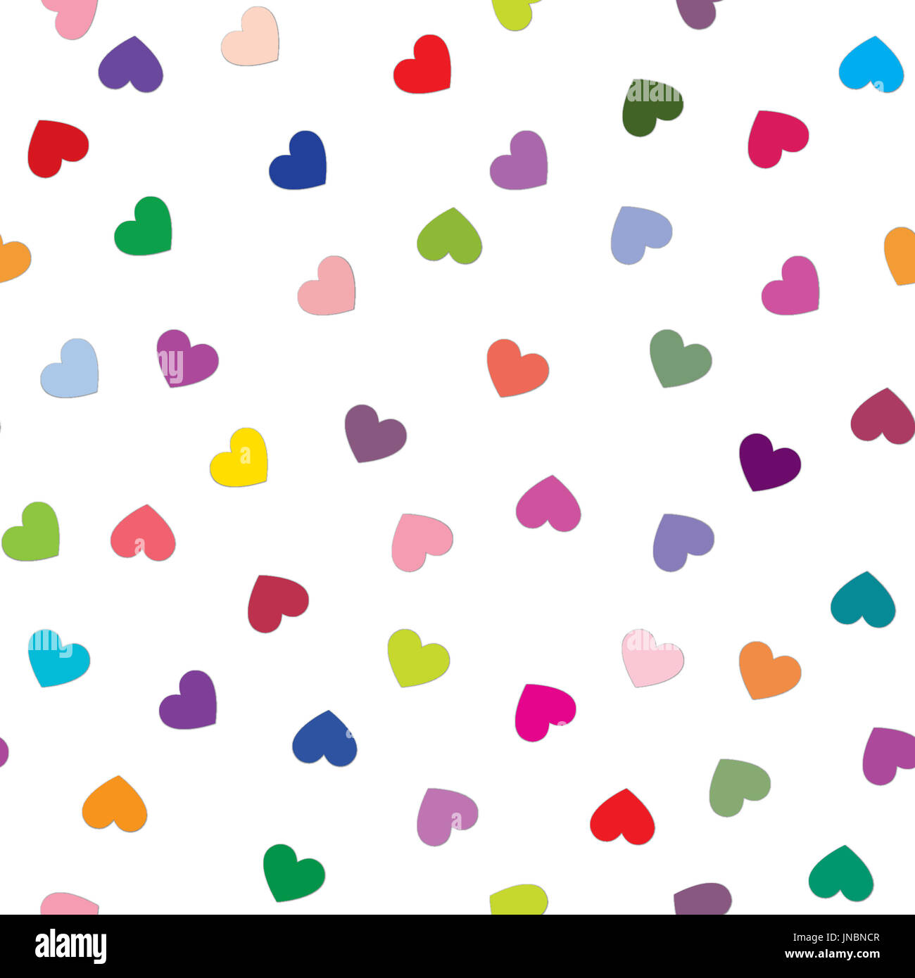 Love Heart Tiling Background Romantic Seamless Pattern With Hearts