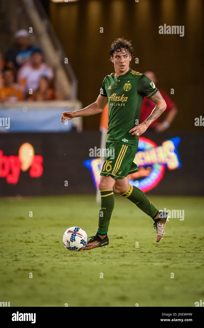 29 July 2017   Portland Timbers Defender Zarek Valentin (16) In Action  During The