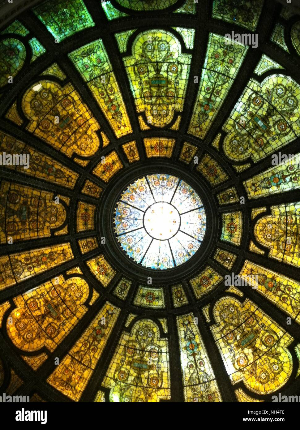 Stained Glass Skylight Stock Photos & Stained Glass
