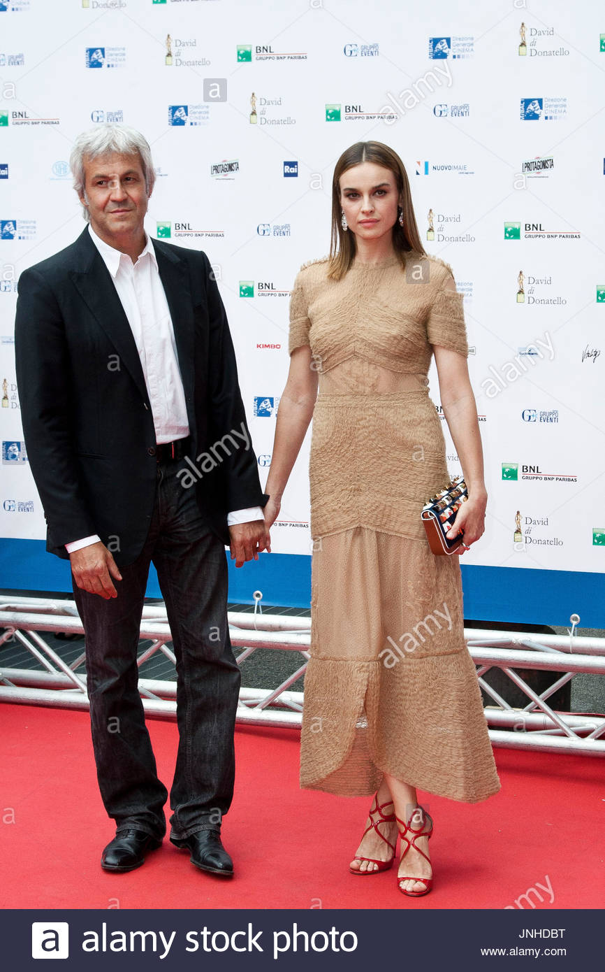 Domenico Procacci, Kasia Smutniak. Gala in Rome for ...