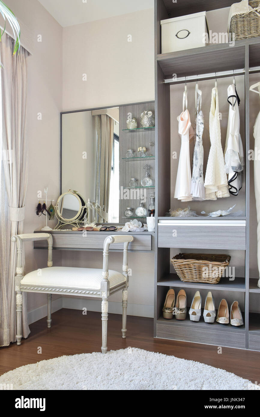 Vintage style dressing room with classic white chair and dressing stock photo vintage style dressing room with classic white chair and dressing table geotapseo Gallery