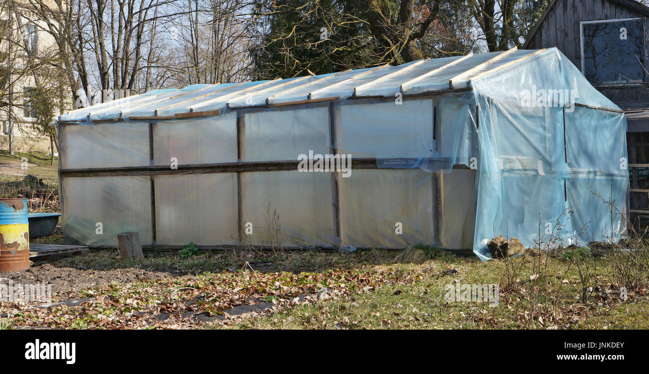 Polycarbonate roof stock photos polycarbonate roof stock for Homemade greenhouse plastic