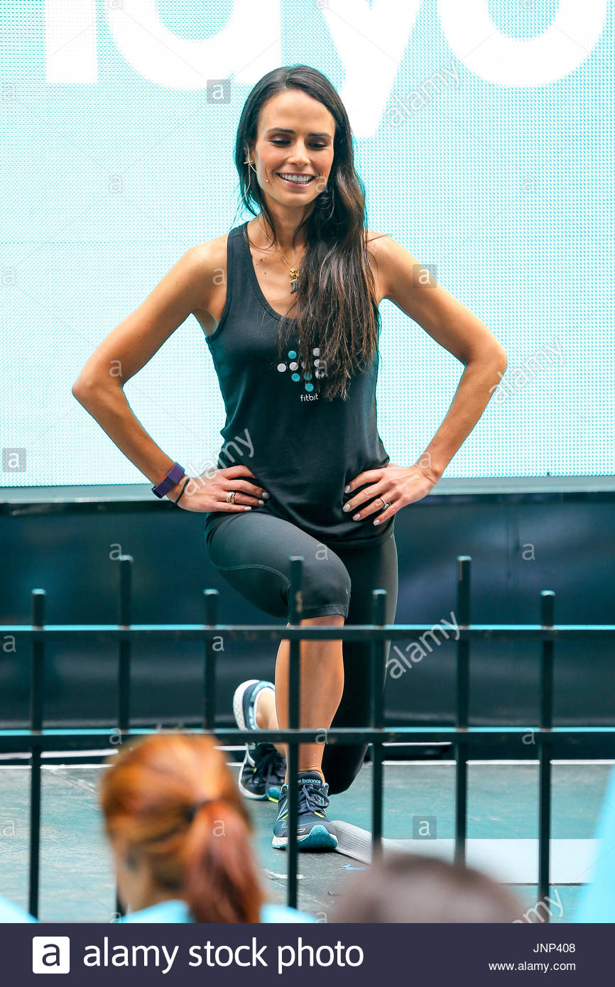 At the fitbit ipo celebration at new york stock exchange on thursday - Jordana Brewster And Celebrity Trainer Harley Pasternak Led New Yorkers In An